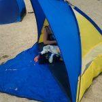もう7年近くになる折りたたみ式のテントです。