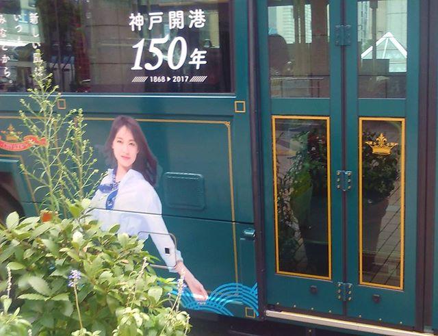 神戸市の観光バスで戸田恵梨香さんを見かけたので慌てて撮影。(写真です。本人ではないですよ)少し前まで観光バスに描かれていた写真はNHKの朝ドラヒロインの芳根京子さんでしたがドラマも終わり開港150年のものに変わったみたいですね。今更知りました。戸田さんは開港150年の大使をされているらしく、神戸ではあちこちでのぼりを見かけます。#神戸 #戸田恵梨香 #開港150周年