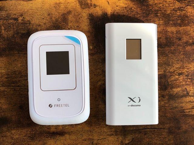 左側が新wifi。SIMフリーで3000円なり。安いし速いぜ!iijmioの格安SIMで格安wifiの完成です。旧端末は不安定だったのでね
